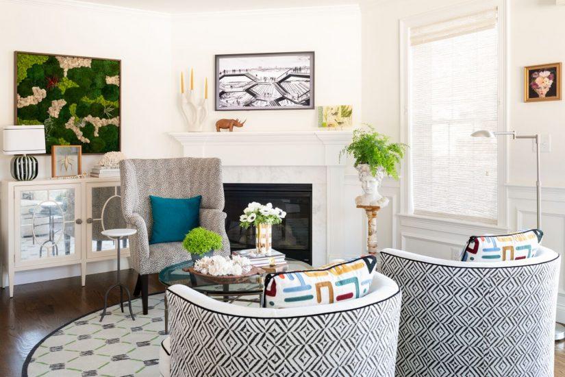 modern condo sitting area