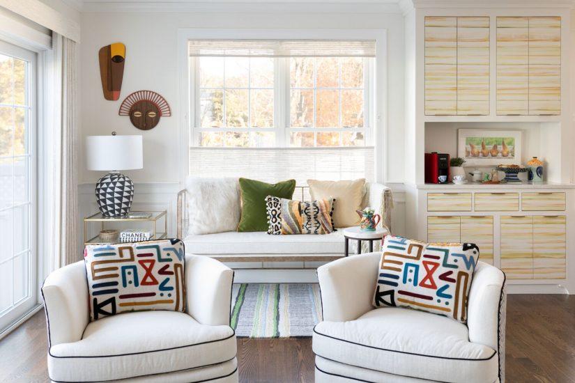 modern condo white walls