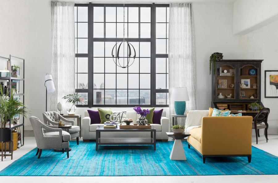 Pied-a-terre loft living room