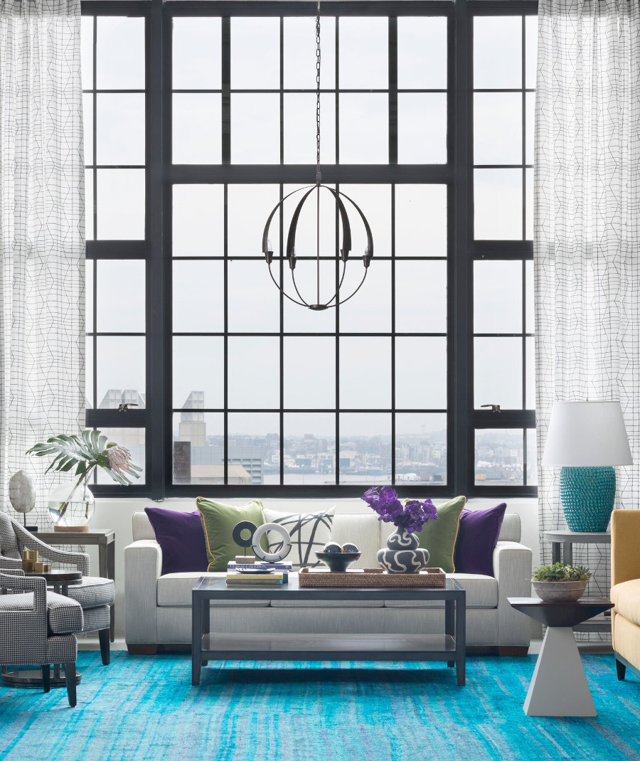 Pied a terre loft living room