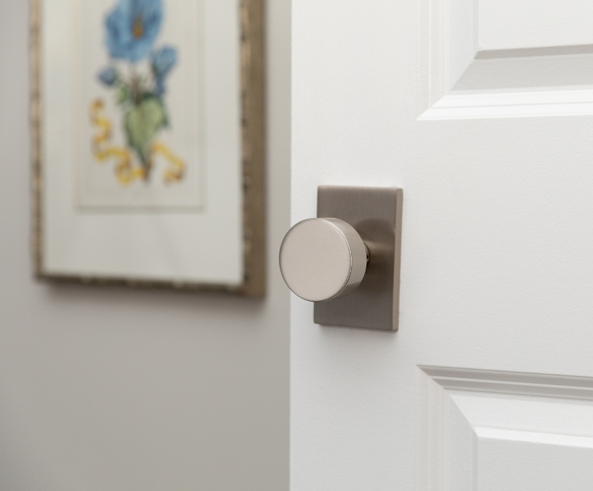Emtek satin nickel door knob