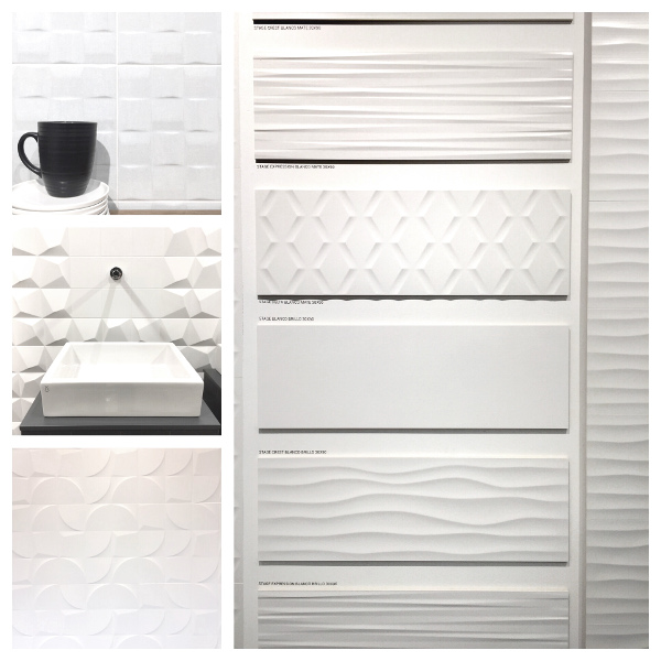 3-D porcelain tiles Cevisama Spain