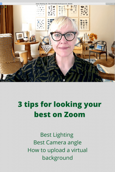 Tip for looking good on Zoom