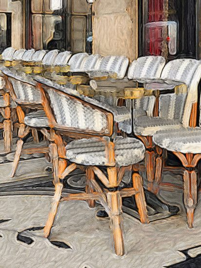 Painting of cafe chairs