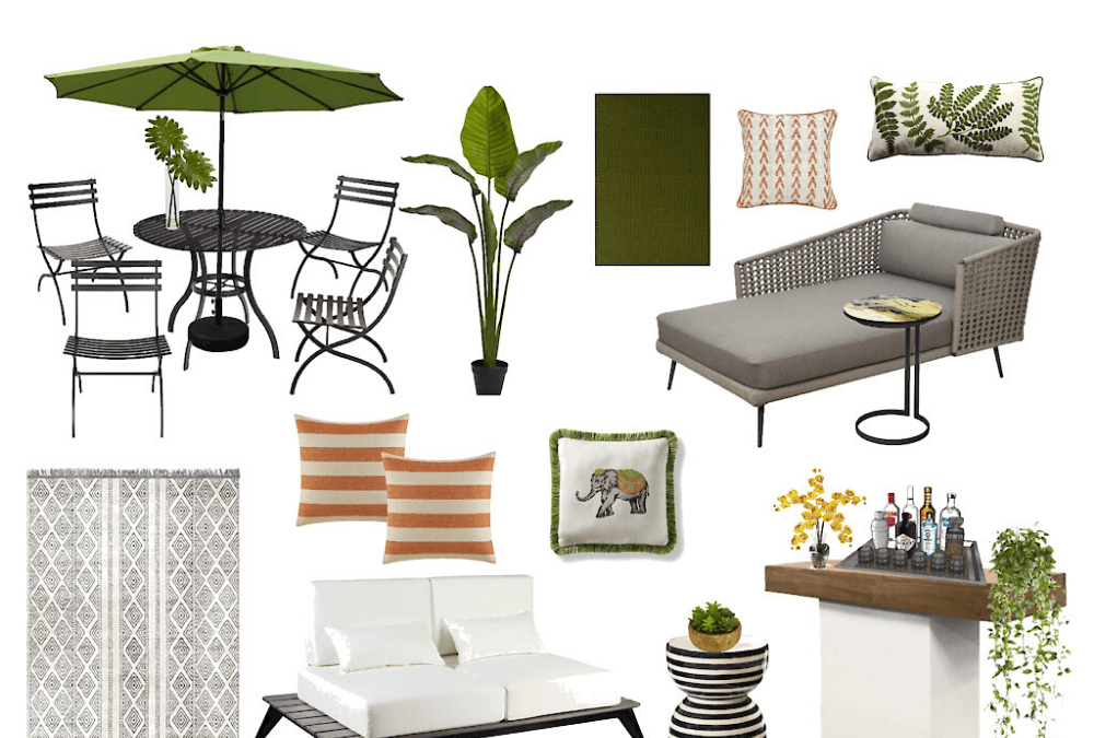 Designing an outside living space for a small patio