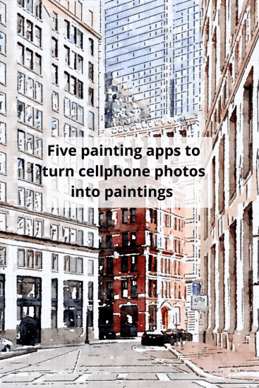 painting apps to turn a cellphone photo into a painting
