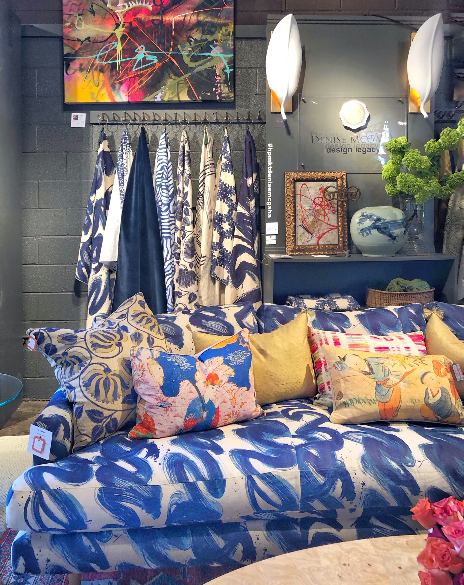 Design trends, patterned fabric on furniture