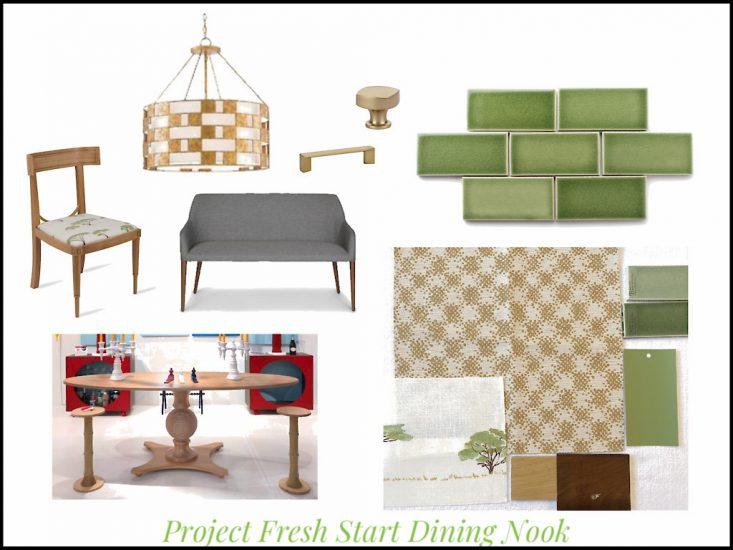 Kitchen dining nook design board