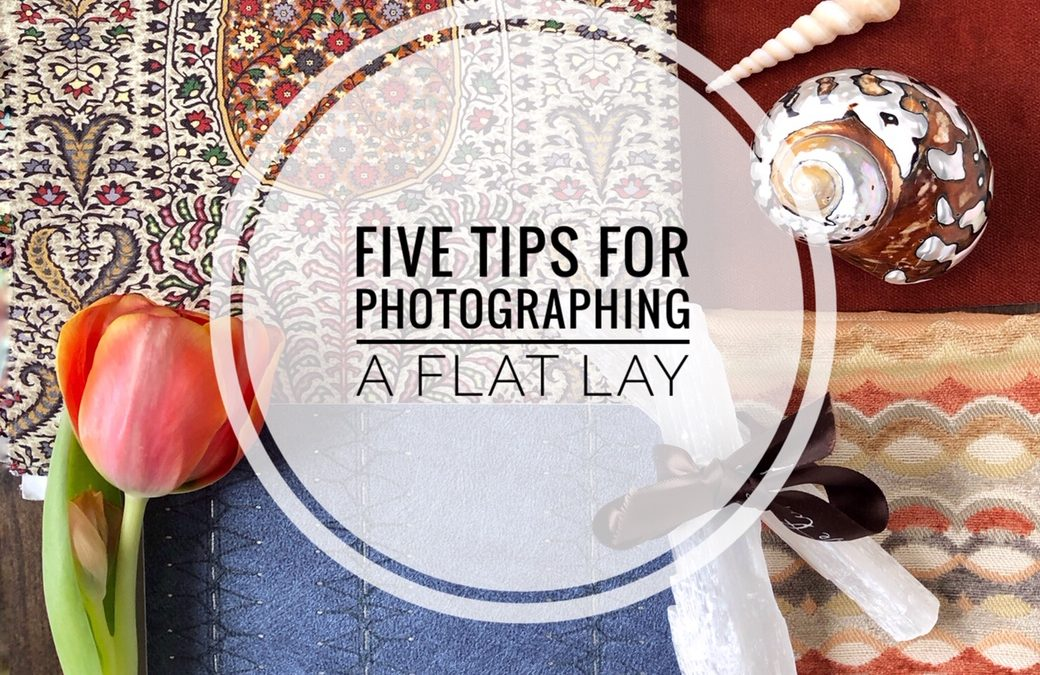 how to photograph a flat lay