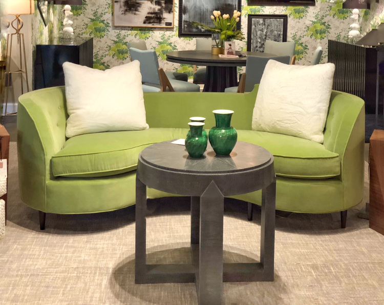 CR Laine green sofa color trends