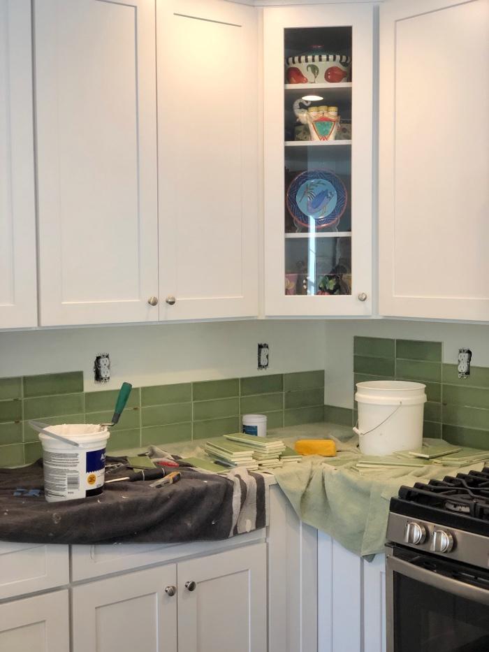 FireClay green tiles