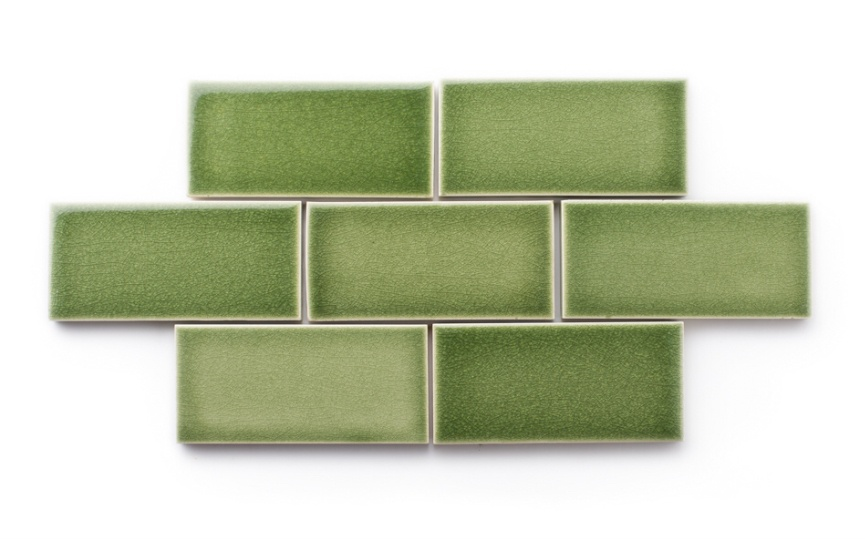 Fireclay tiles in basil