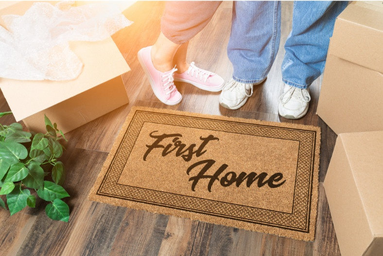 decorating your first home welcome door mat