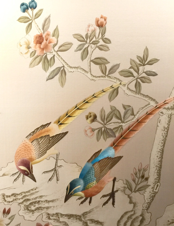 Fromental embroidered wallpaper: Linda Holt Photo