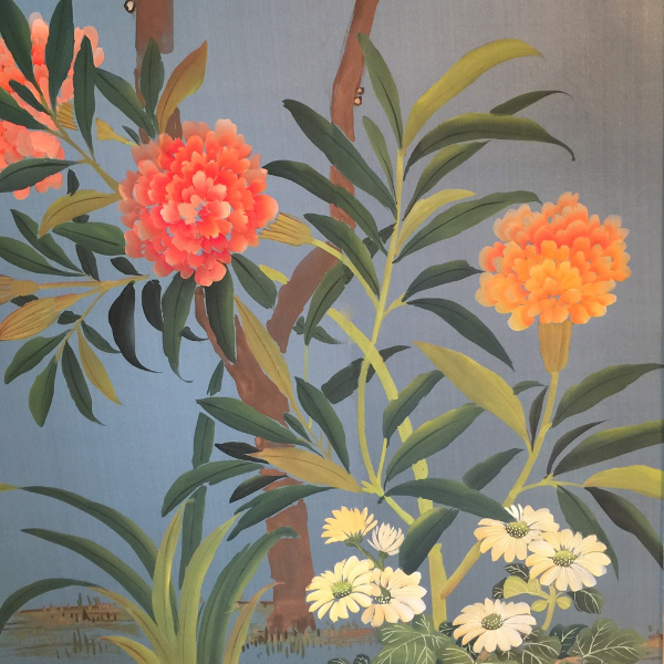Fromental hand painted paper: Linda Holt Photo