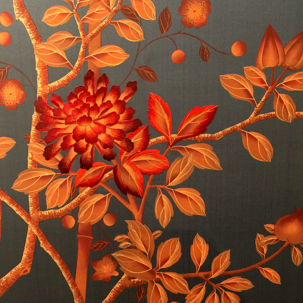 Fromental embroider wallpaper:Linda Holt Photo