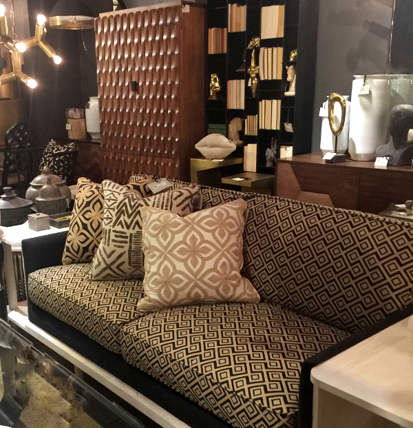 African inspired textiles at Noir Furniture