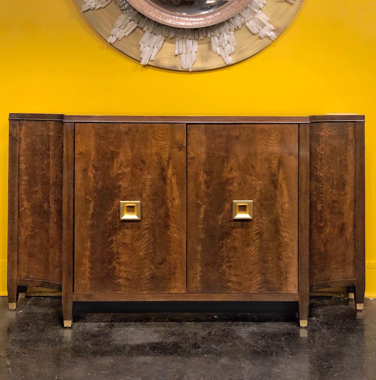 walnut console cabinet