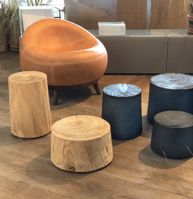 Modern chairs and stools from Notherners collective