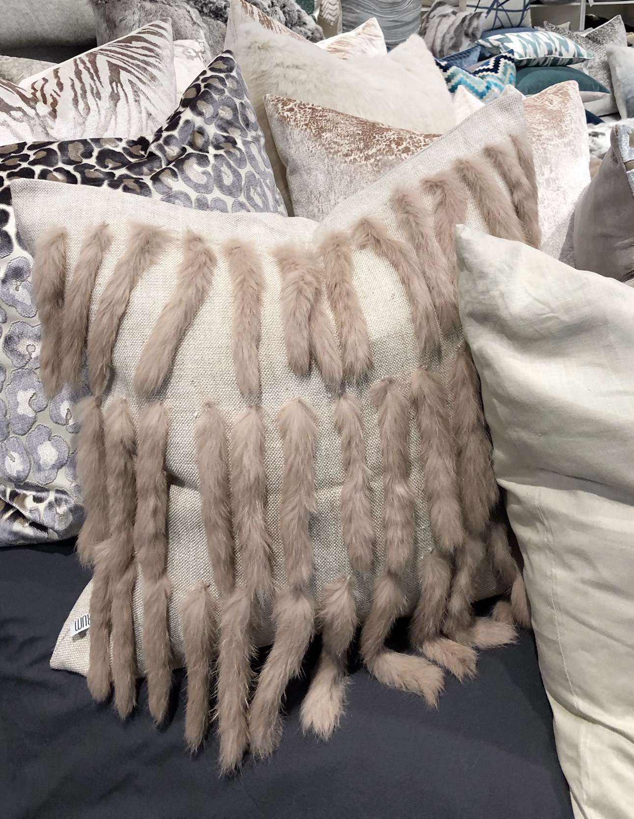 decorative fur pillow