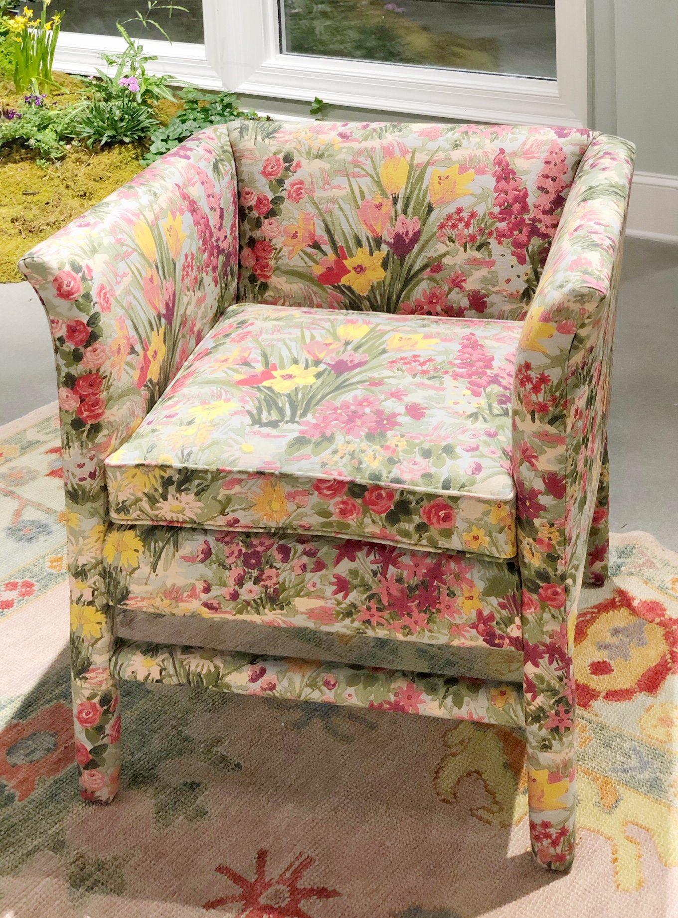 design trends floral fabric on chair
