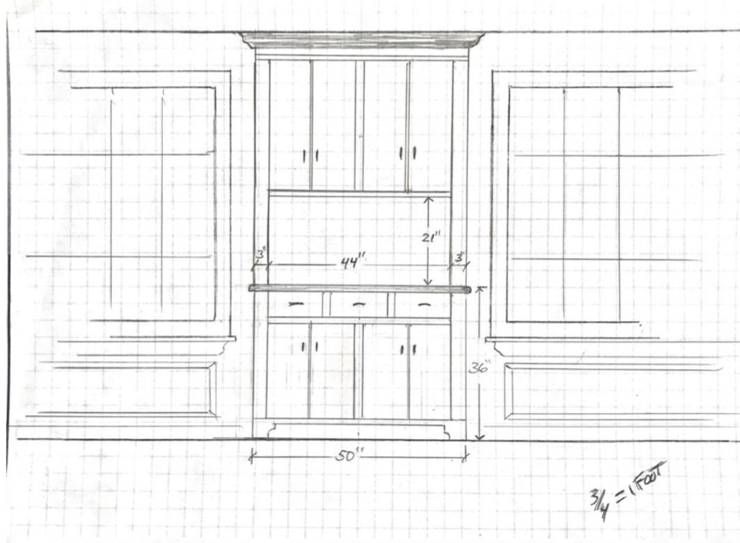 drawing of pantry