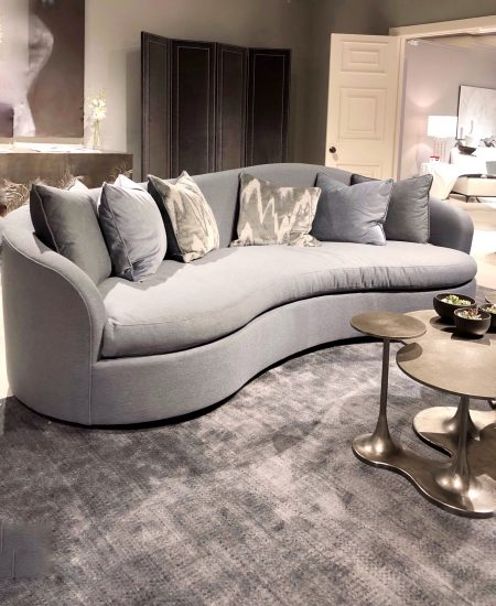 curved gray sofa design trend