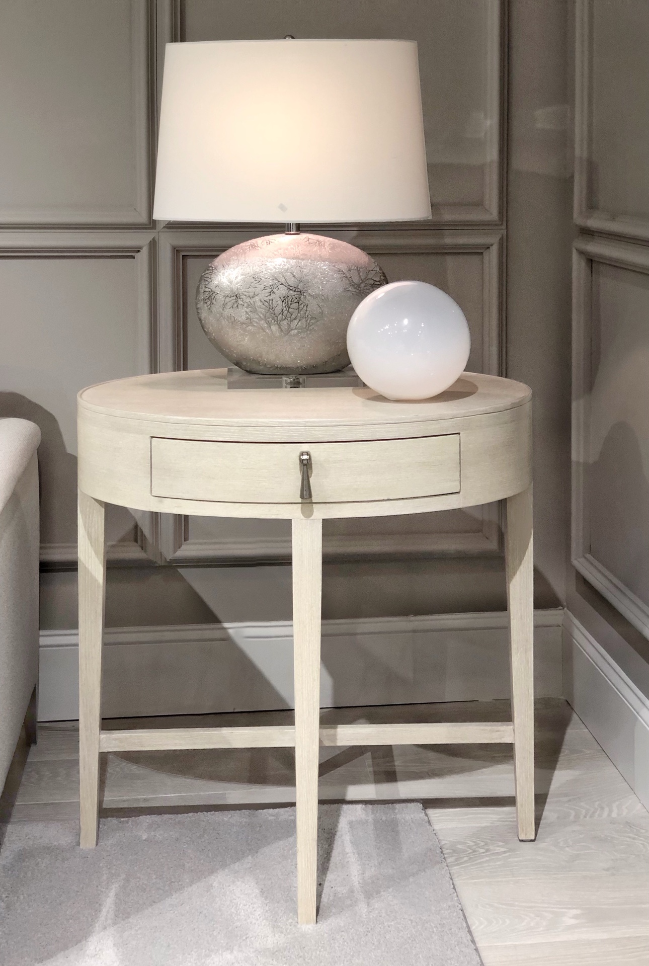 rounded end table design trend