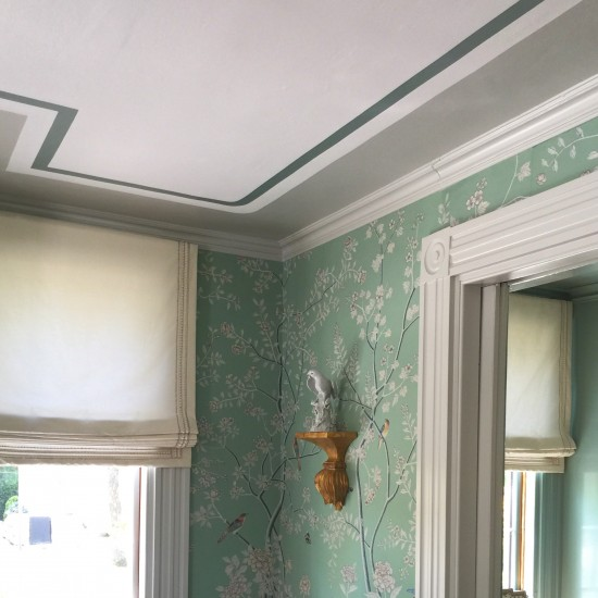 Receiving room ceiling:Linda Holt Photo