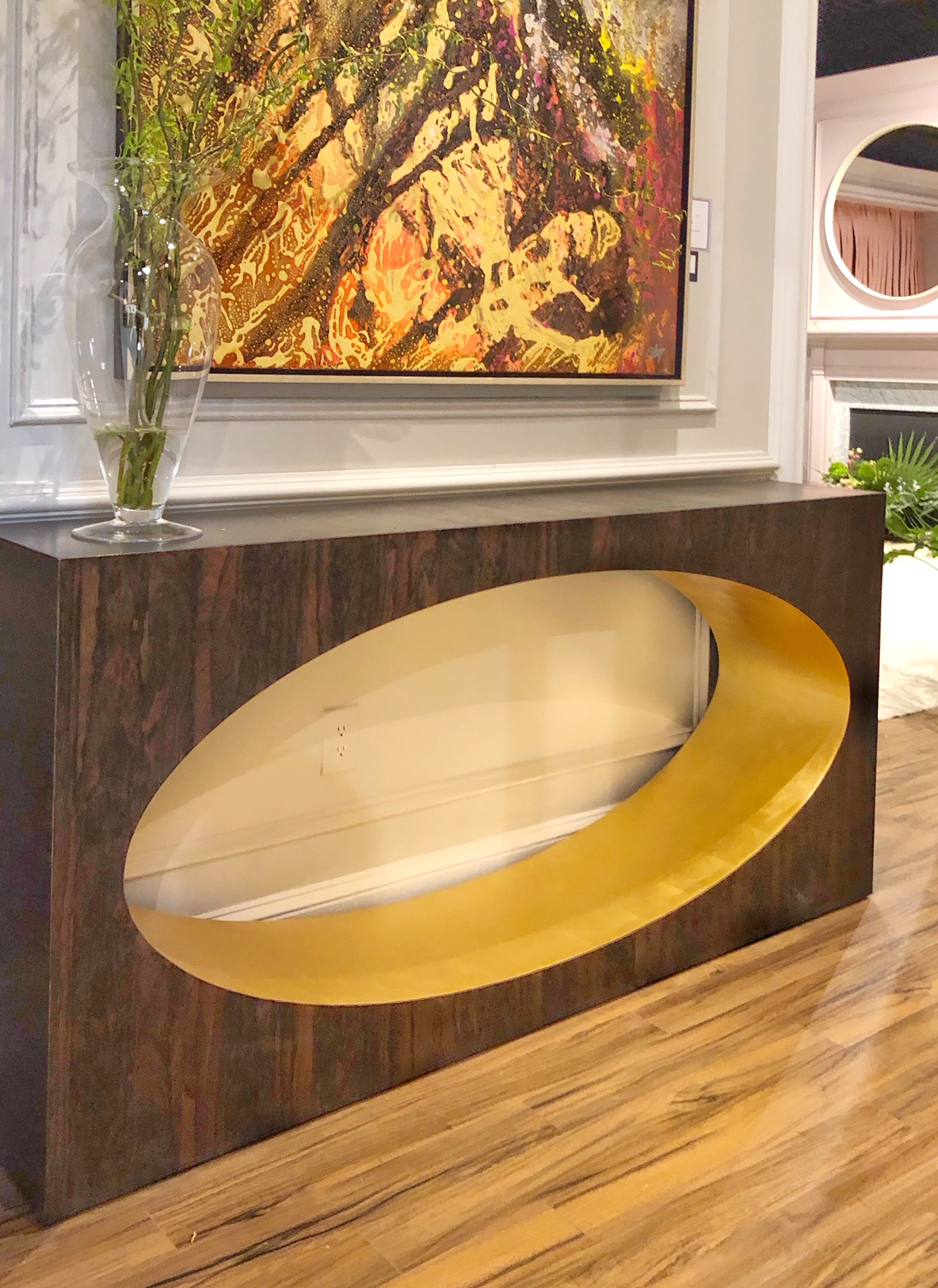 design trends oval console table