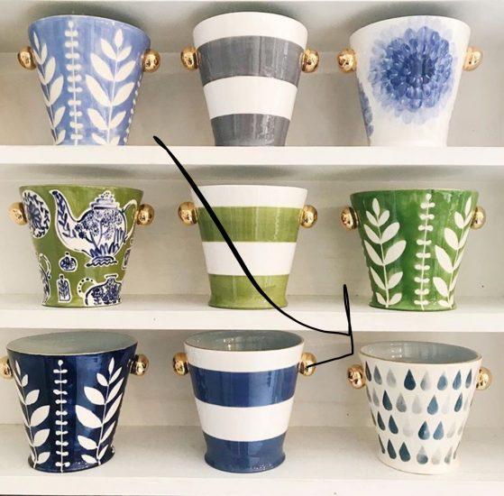 herb pots from Jill Rosenwald
