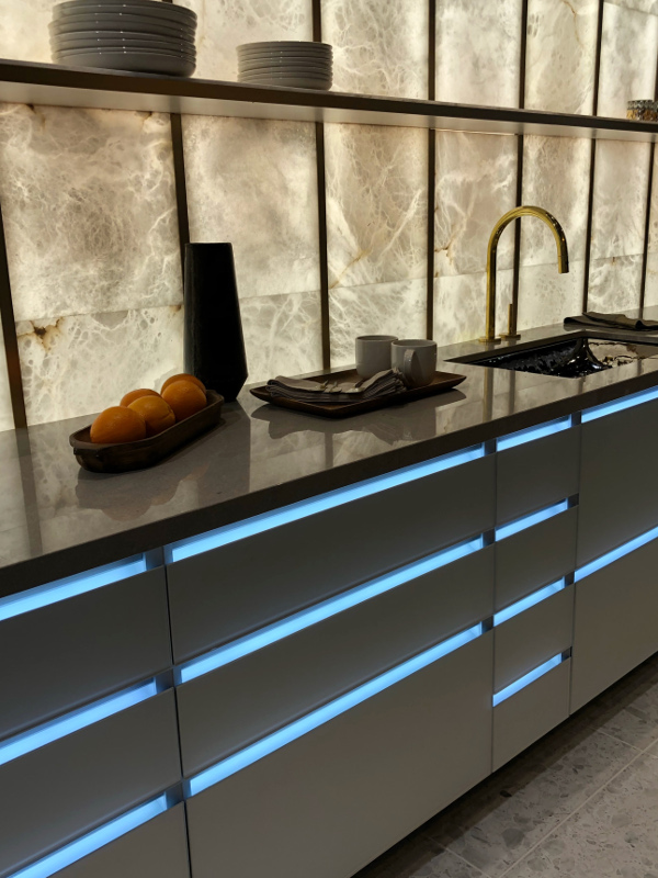 Cabinetry with led lighting