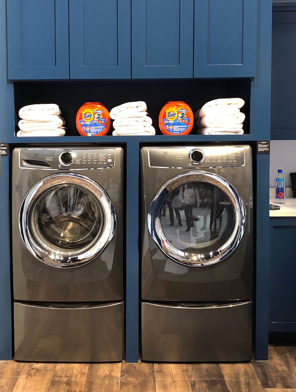 "Miele 24"" washer and dryer"