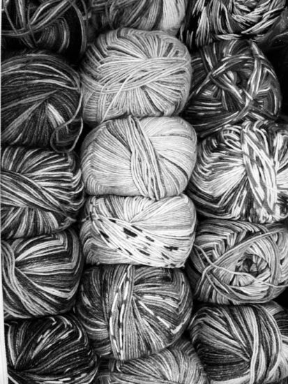 Black and white yarn