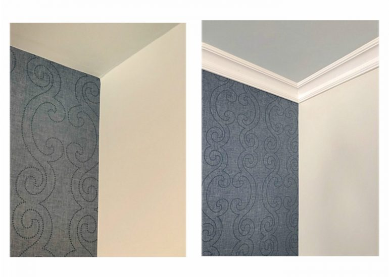 before and after crown molding