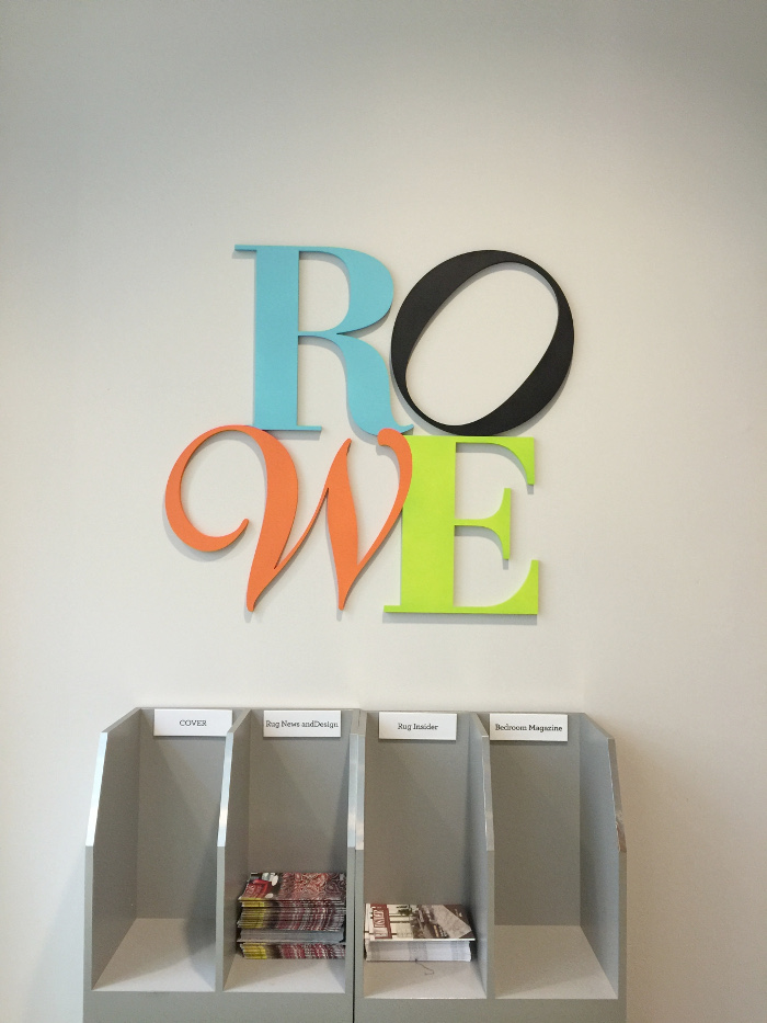 High Point signage for Rowe furniture