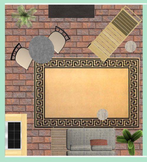 small patio furniture plan