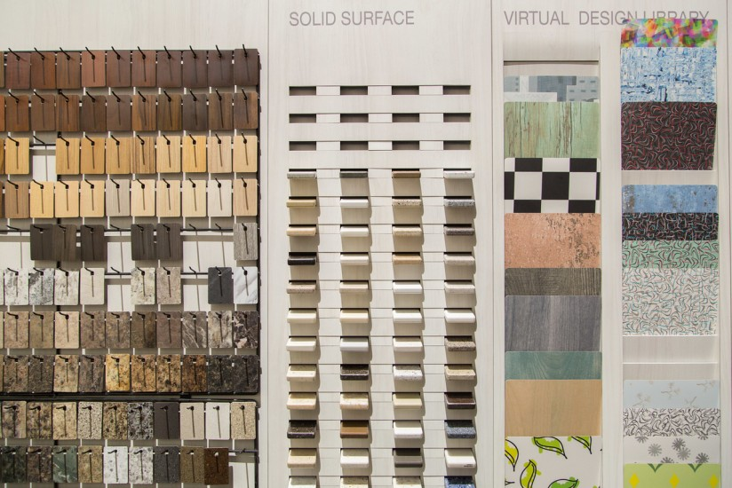 Small sampling of Wilsonart laminate options