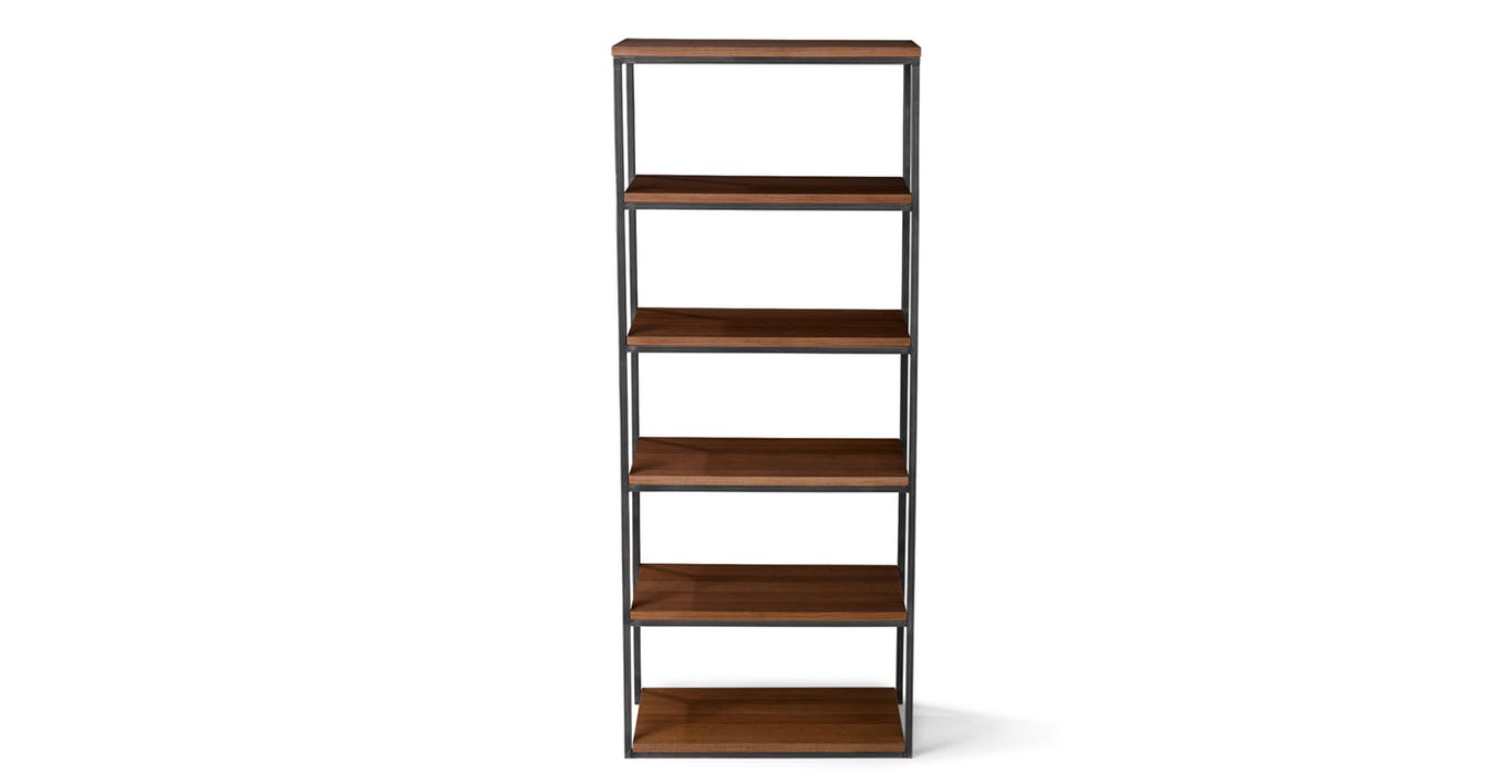 walnut modern bookcase