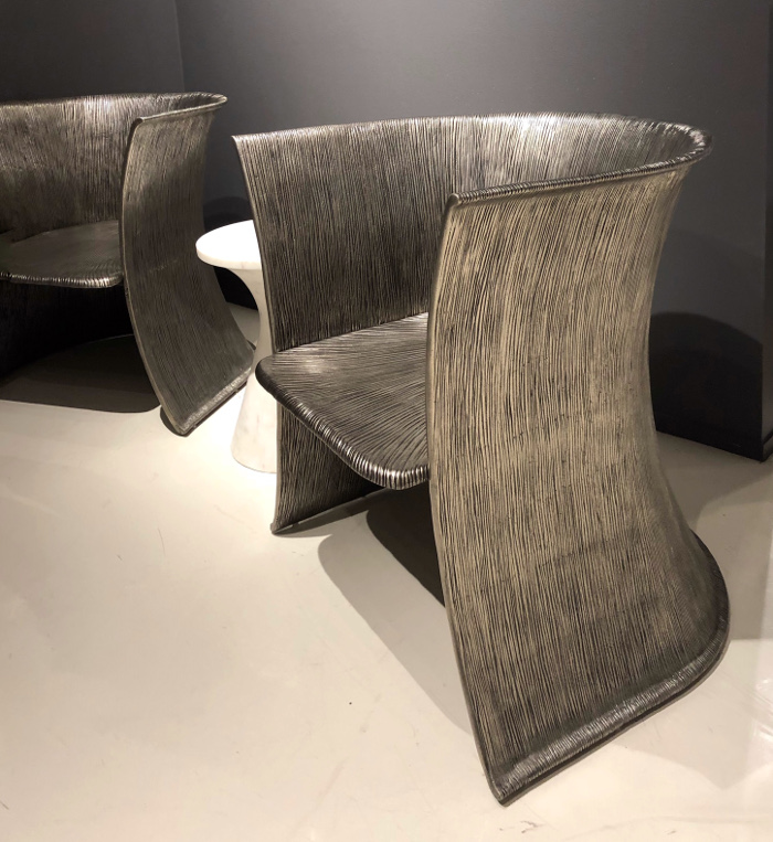 Bernhardt metal chairs