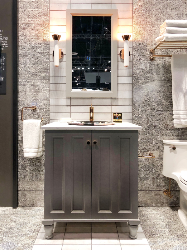 Black, White and Gray bathroom at Kohler