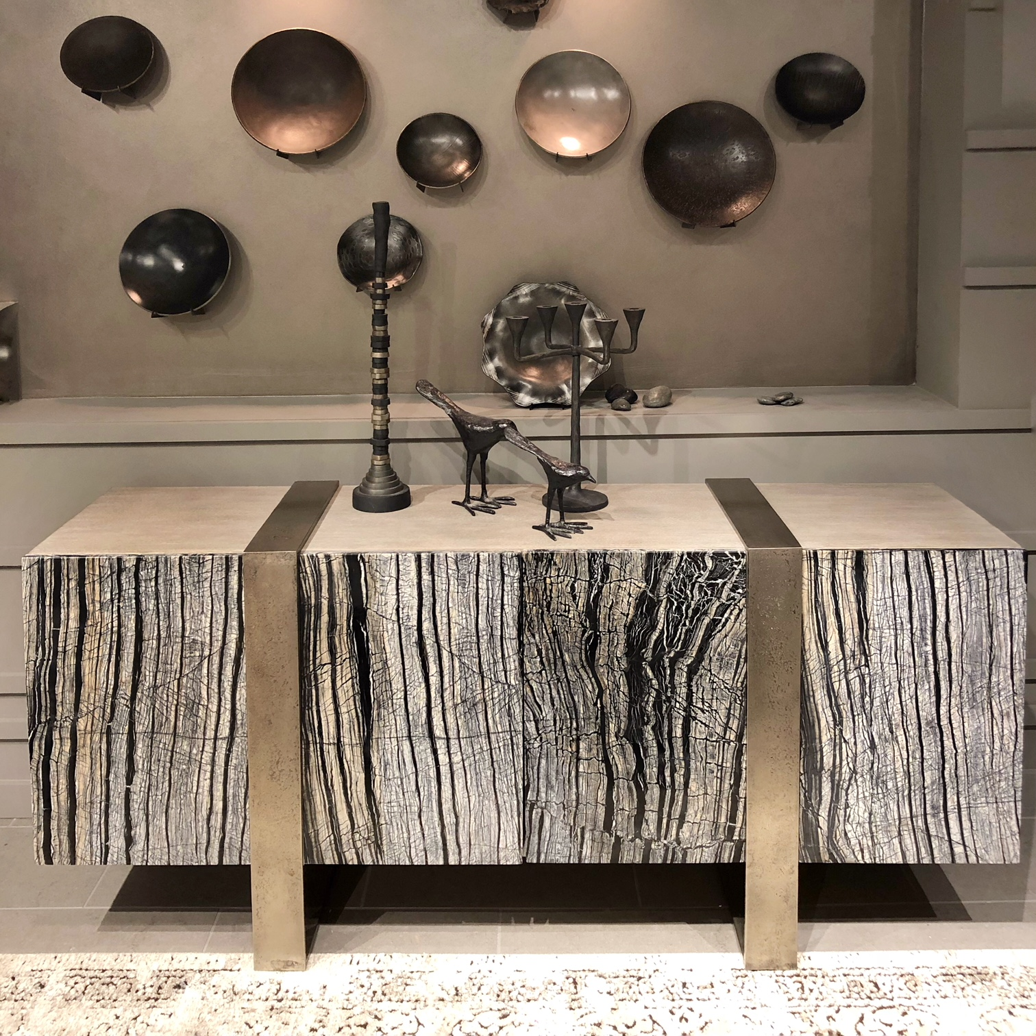 black forest marble console