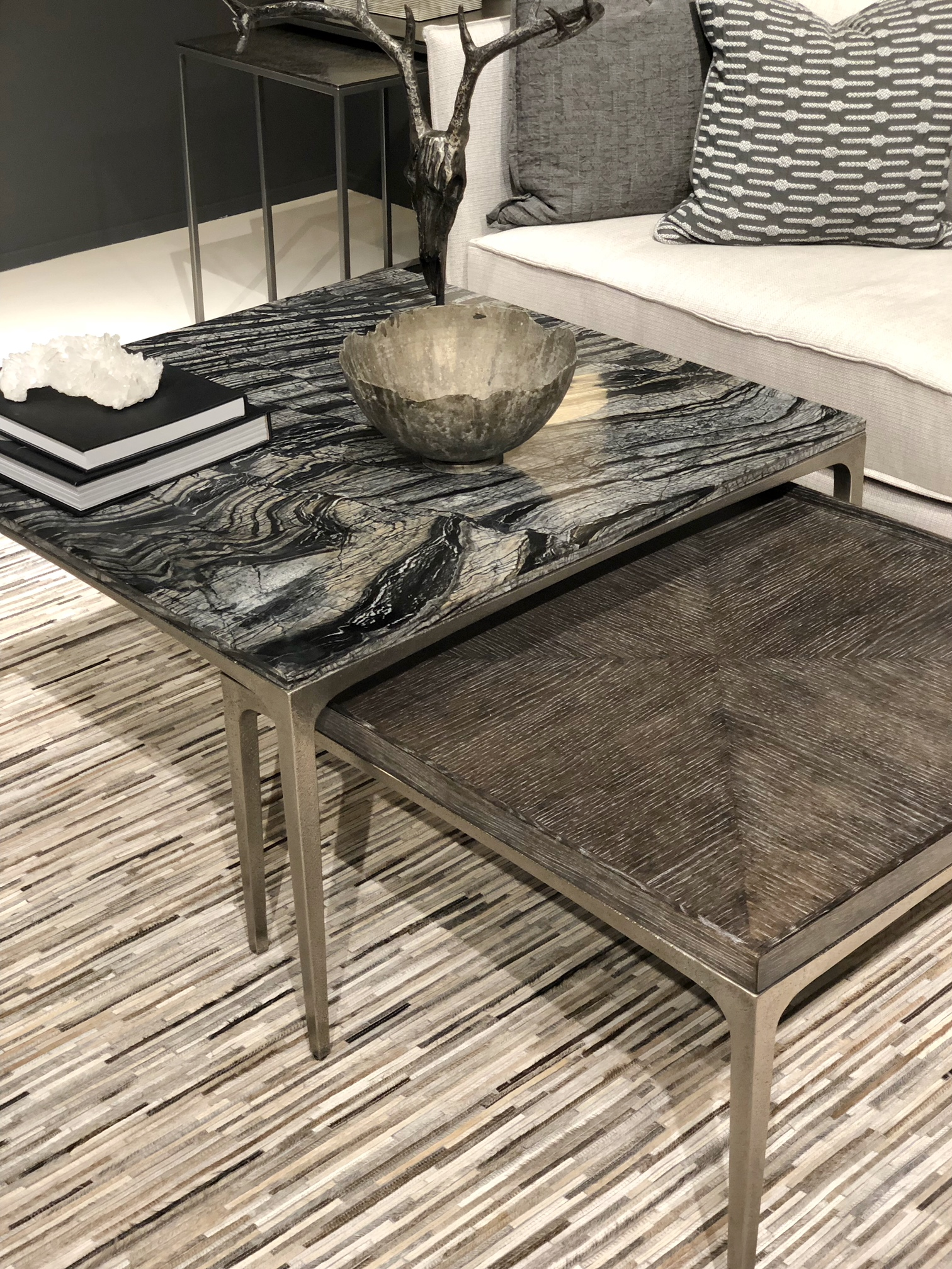black marble coffee table