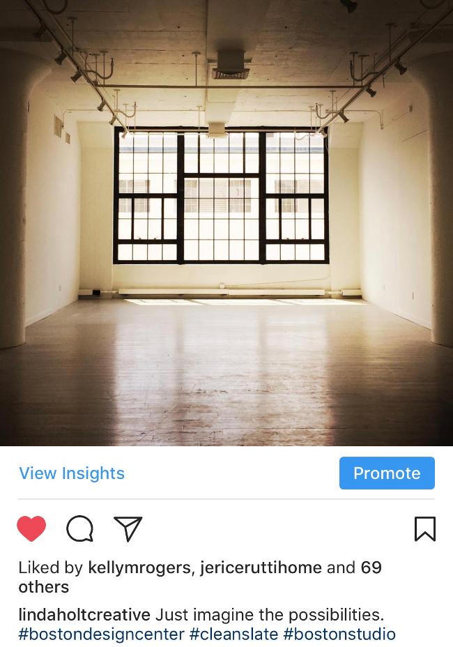 empty studio space at Boston Design Center