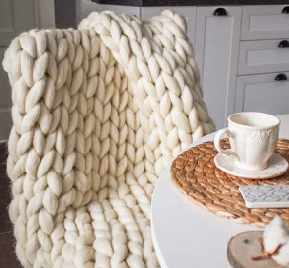 warm chunky throw