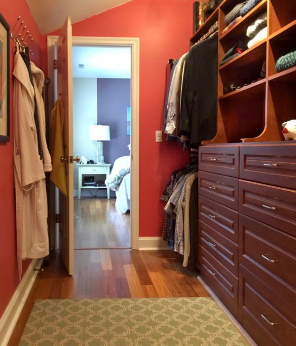 red Feng Shui closet