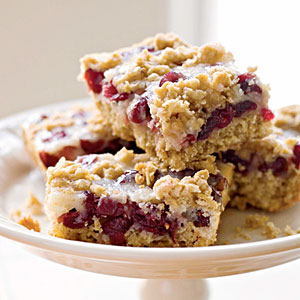 Holiday cranberry squares and a tribute