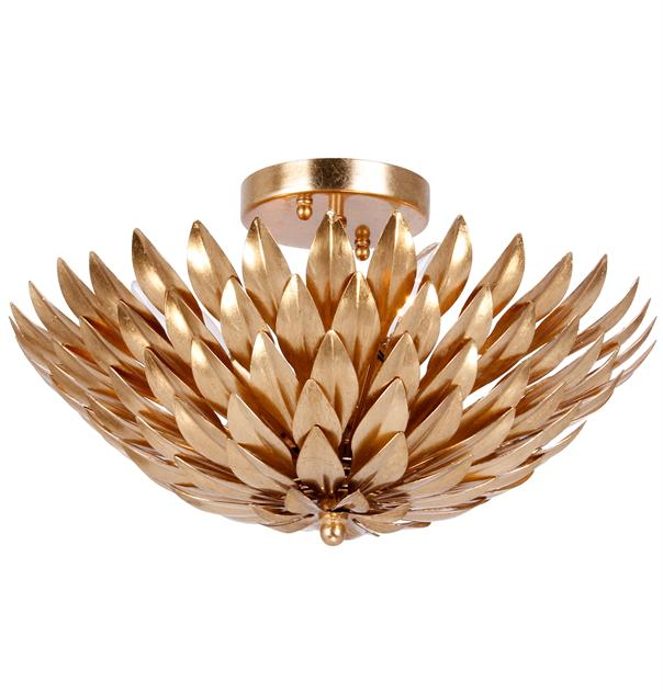 gold flush mount light from Crystarama