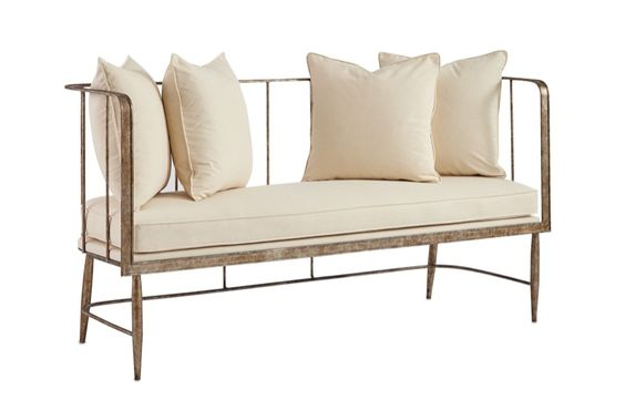 gold bench from Currey and Company