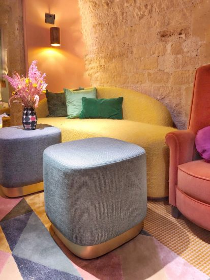 Rounded organic shaped furniture